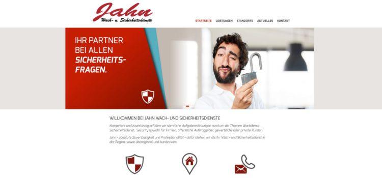 Erstrahlt im neuen Design: www.jahn-wachdienst.de